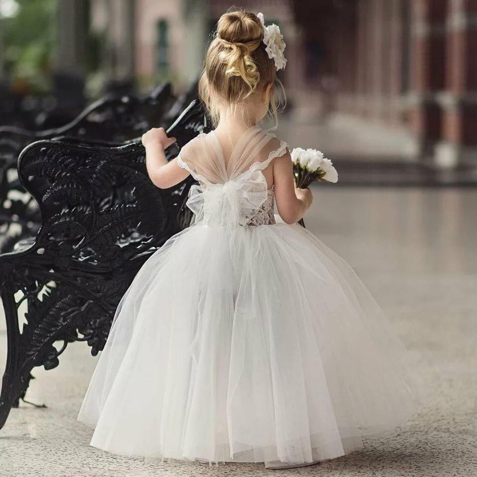 Картинки маленькая девочка в свадебном платье