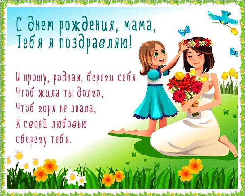 Открытка поздравление маме от дочери, картинках