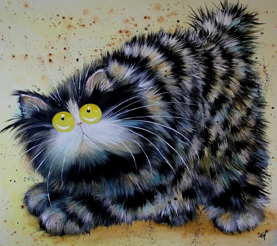 Блестками, коты картинки смешные нарисованные