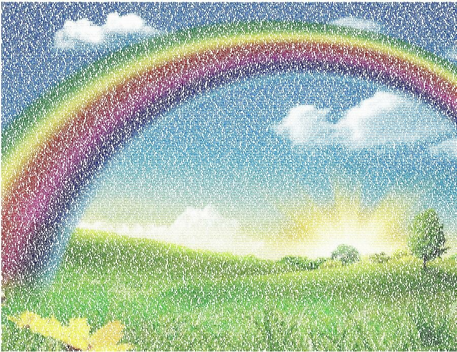 Днем, открытки с радугой и цветами двигающиеся
