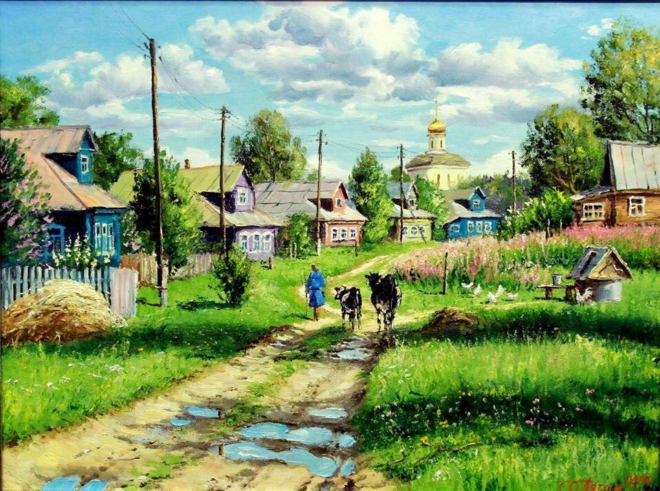 картинки на тему русская деревня фотоэпиляции поможет