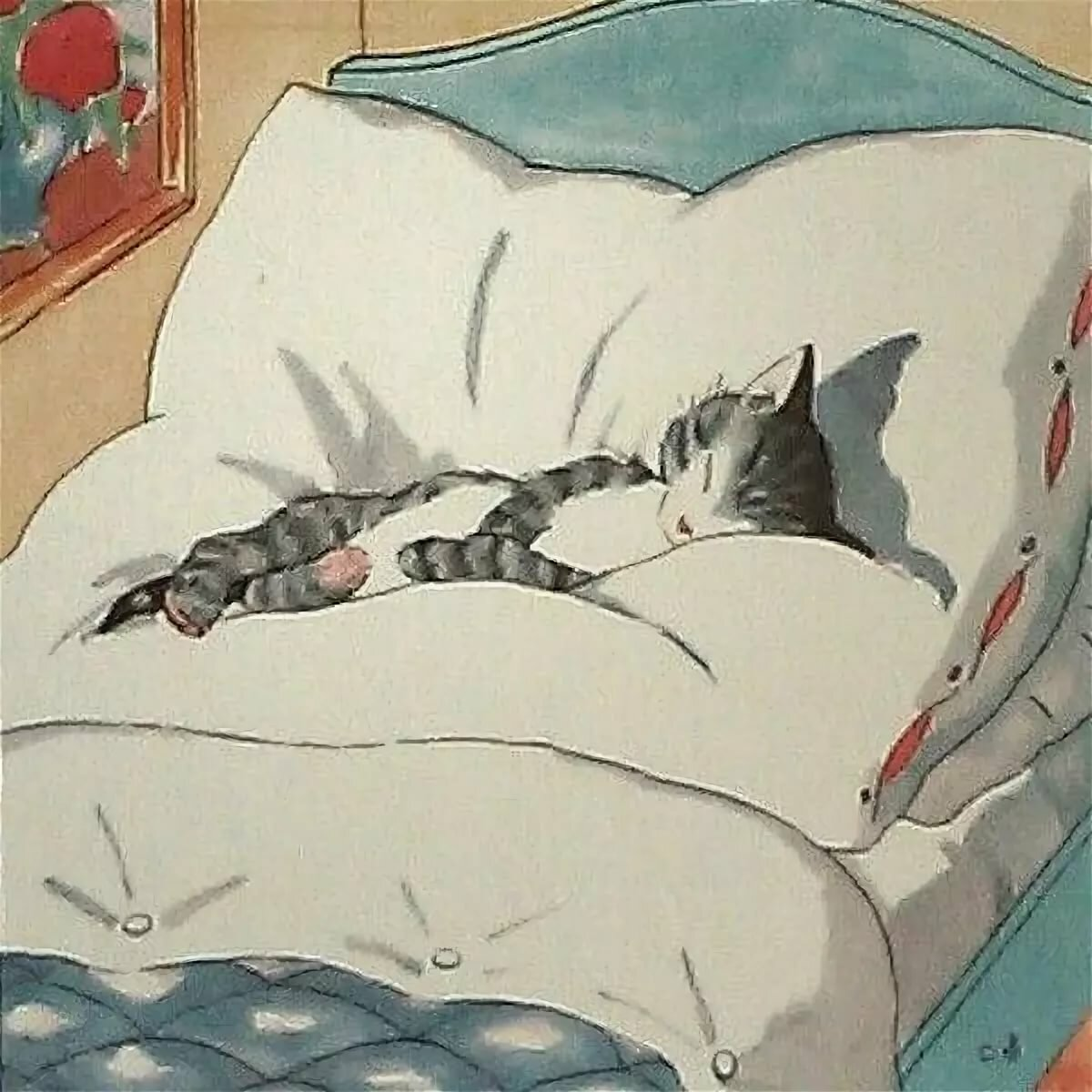 Месяцев, картинки спящих котов рисунки