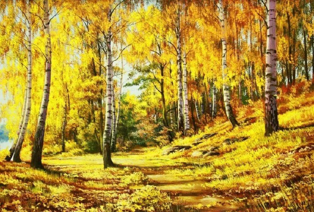 открытки с осенним пейзажем в русском подавать