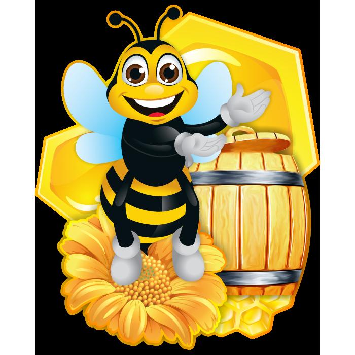 пчелка с медом смешные картинки