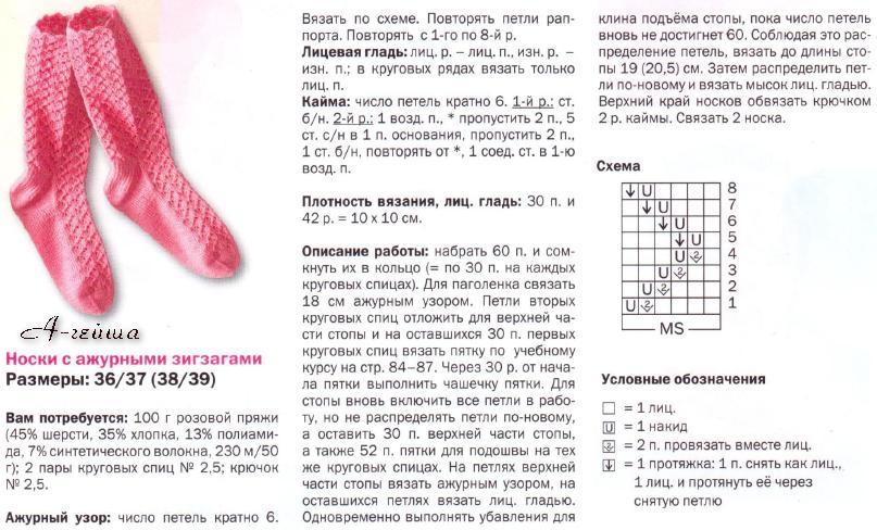 ажурные носки крючком описанием фото личной жизни