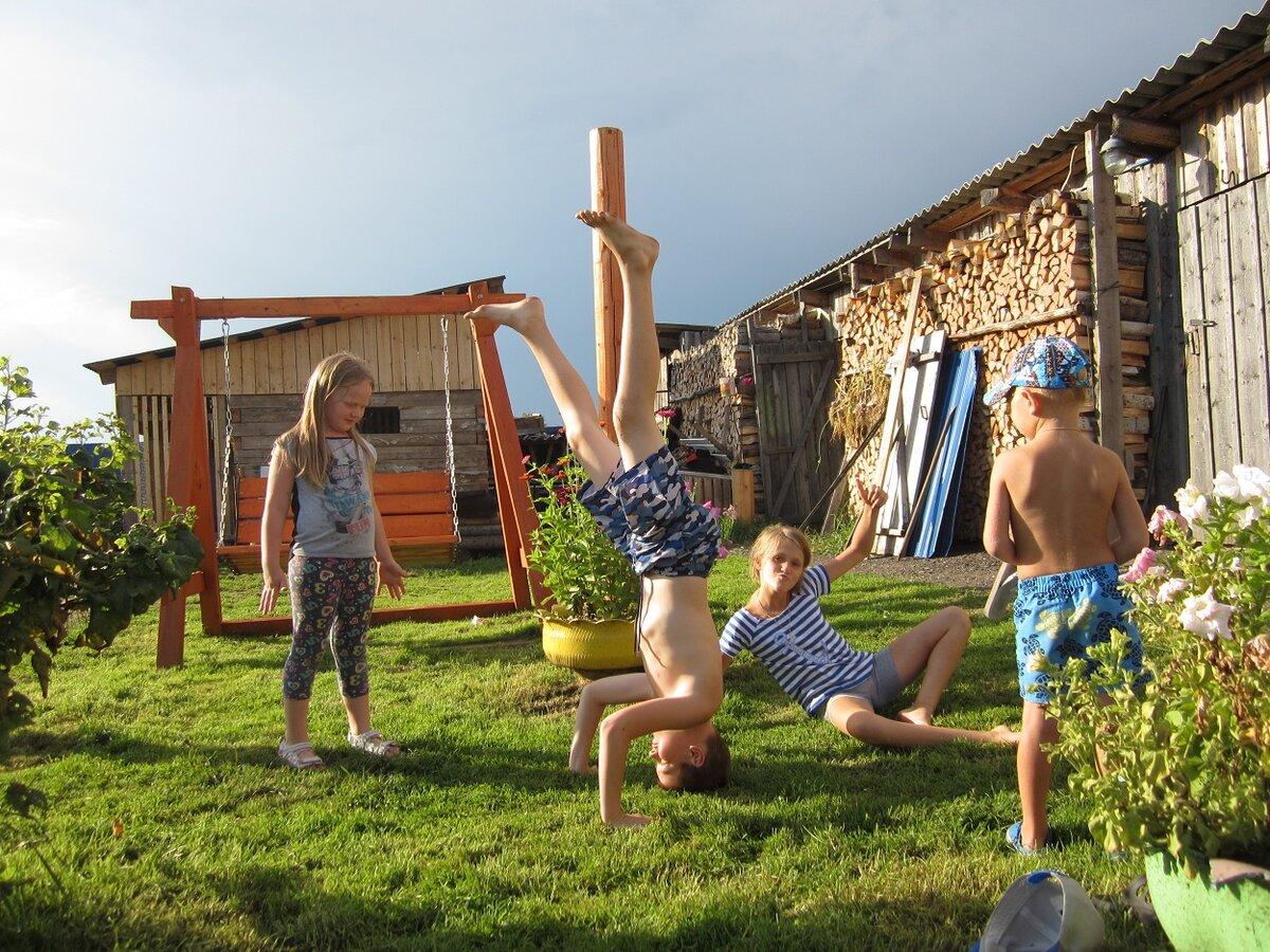 были картинки летние каникулы в деревне дай бог