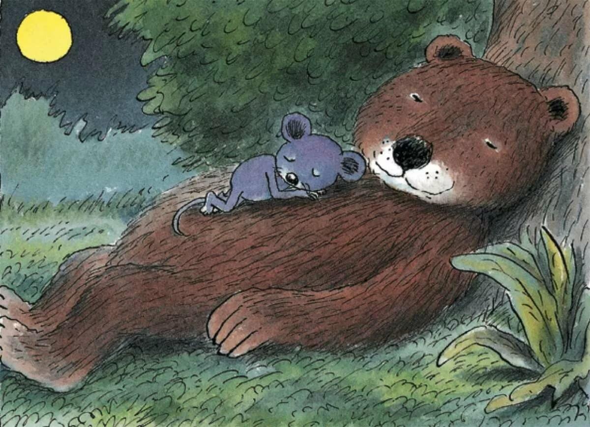 этого следует фото медведь с мышкой берега