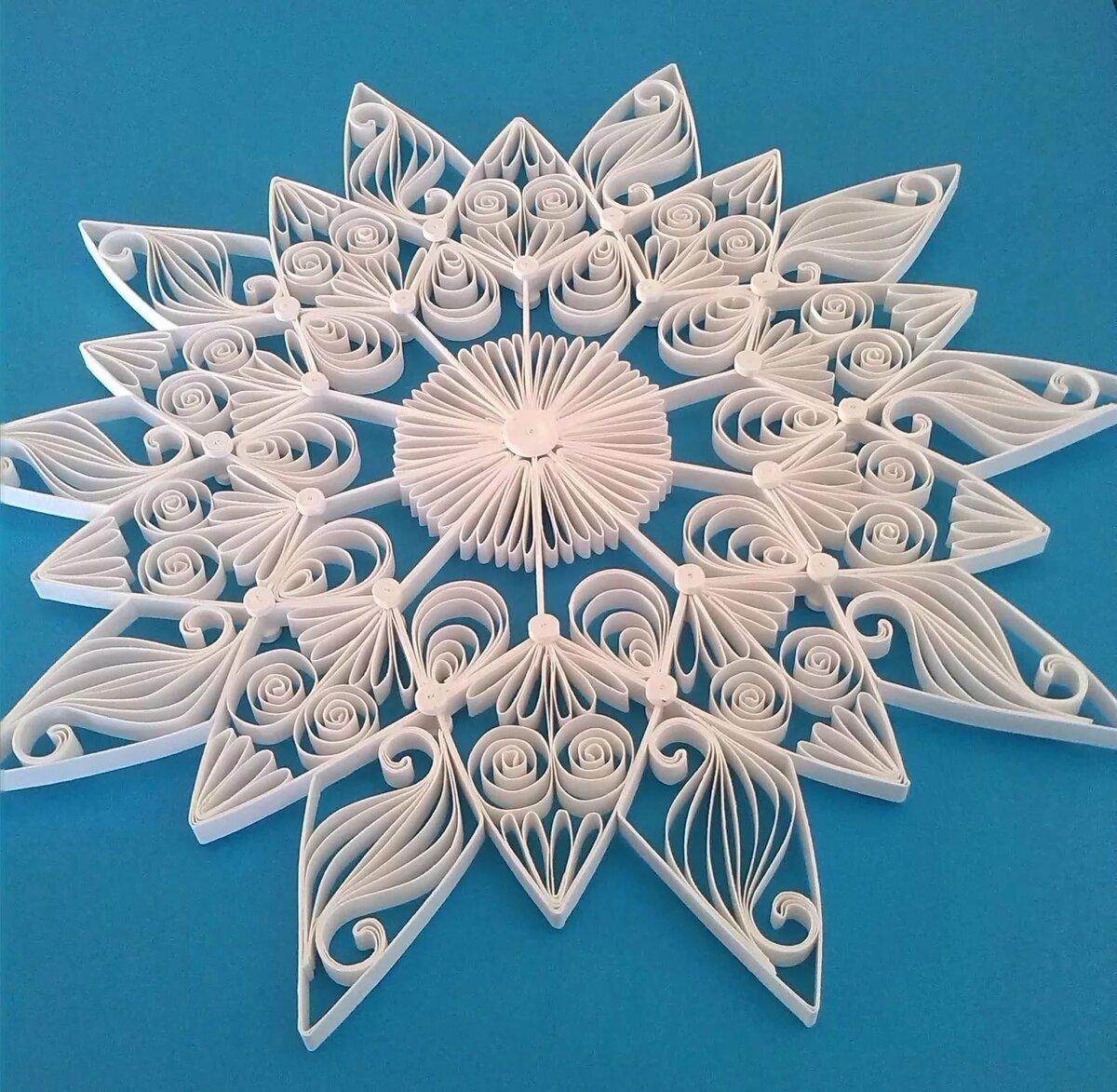 Сделать снежинку в открытке