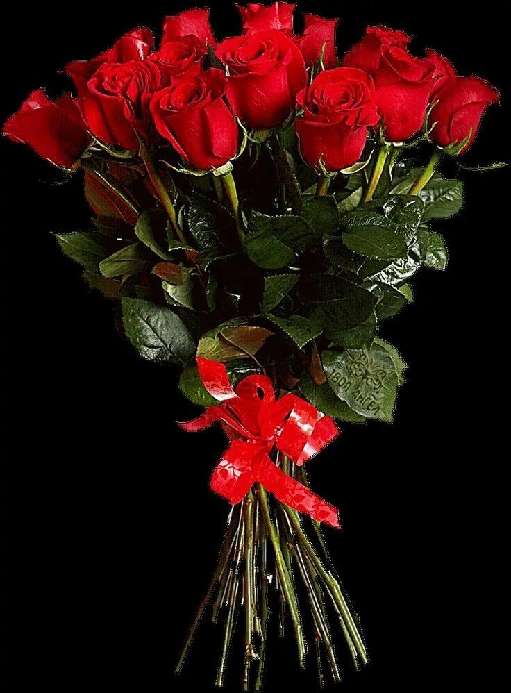 Анимация картинки букеты роз, открытки днем рождения