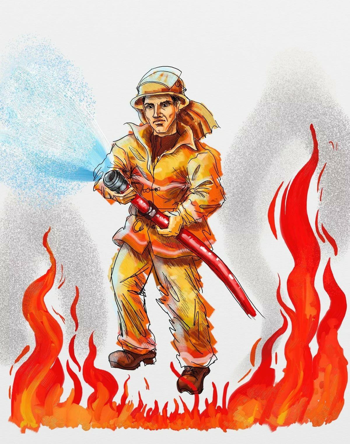 Картинки на тему моя профессия пожарный