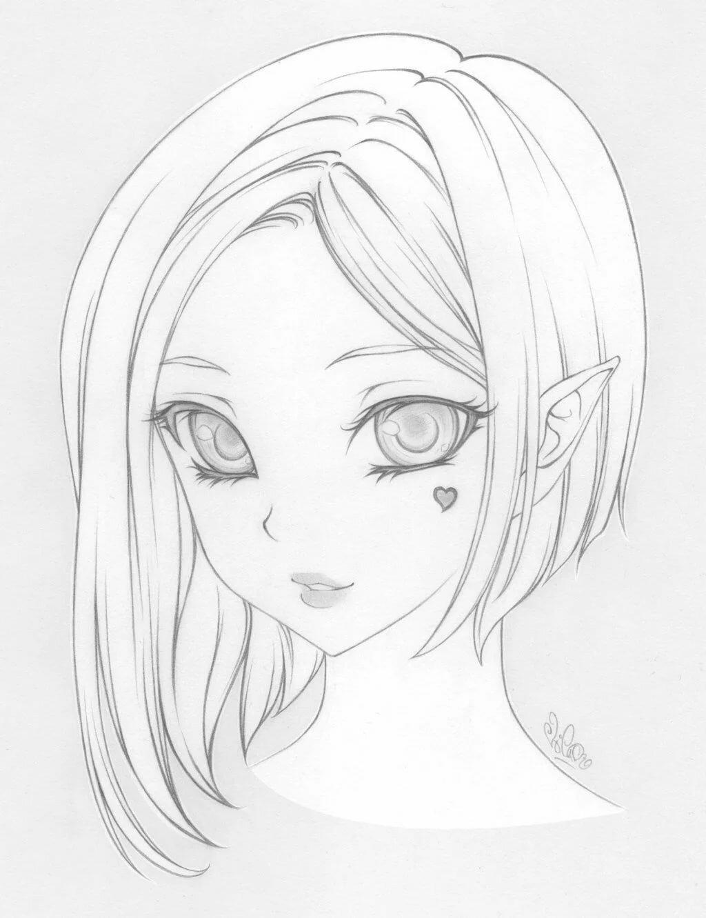 Маленьких детей, картинки для срисовки карандашом прикольные для девочек 14 лет аниме