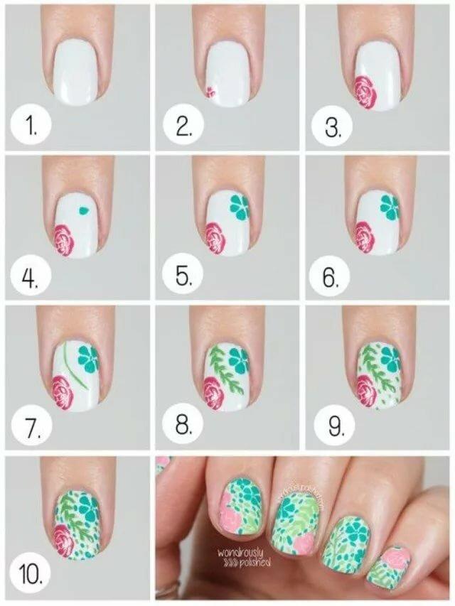 Онлайн, как делать рисунок на ногтях