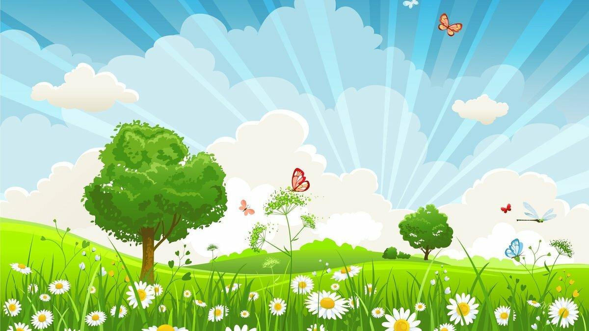 Цветные картинки природы для детей