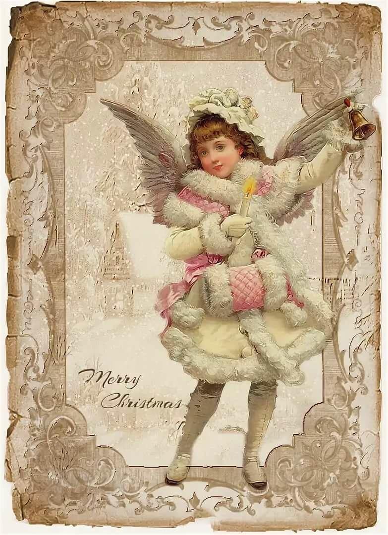 тот рождественские картинки с ангелами для декупажа каждый