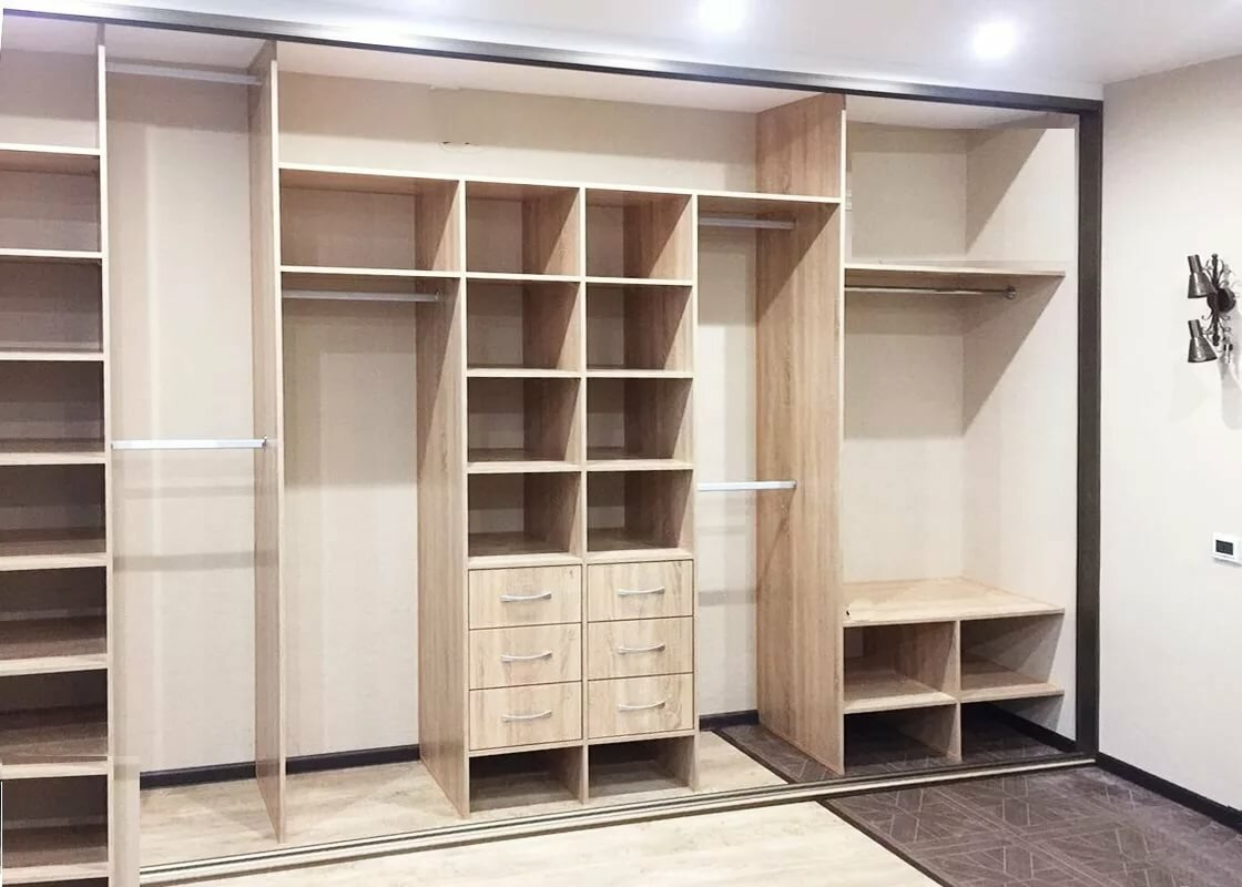 Шкафы купе фото дизайн внутри с размерами