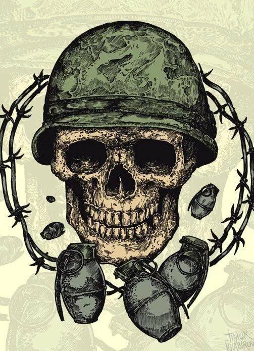 Картинки скелета в военной форме