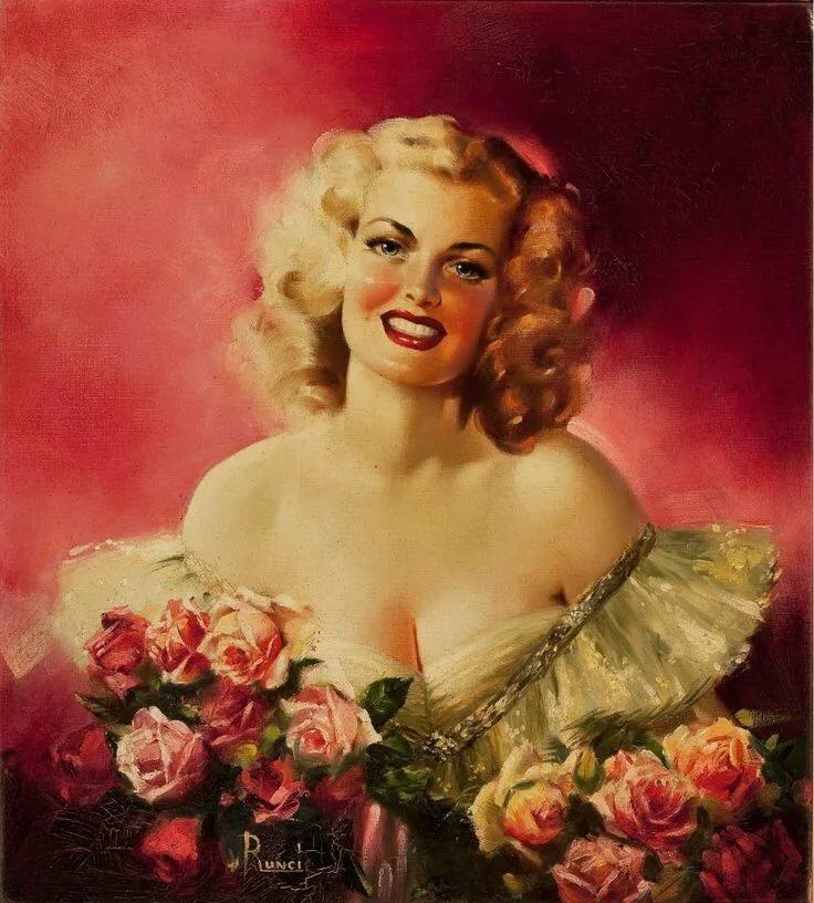Новогодними девушками, открытки девушки красавицы