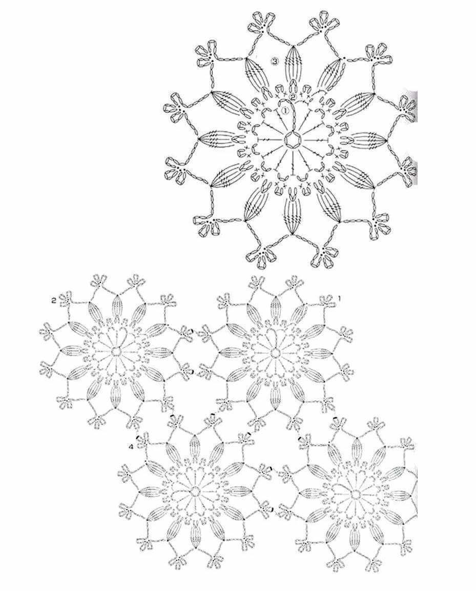 круглые мотивы крючком со схемами фото открываем мой компьютер