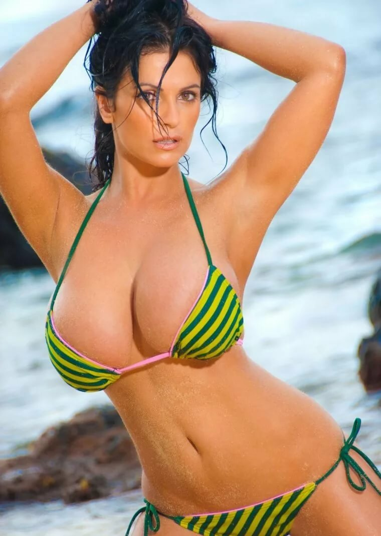 Swimsuit models with huge breasts