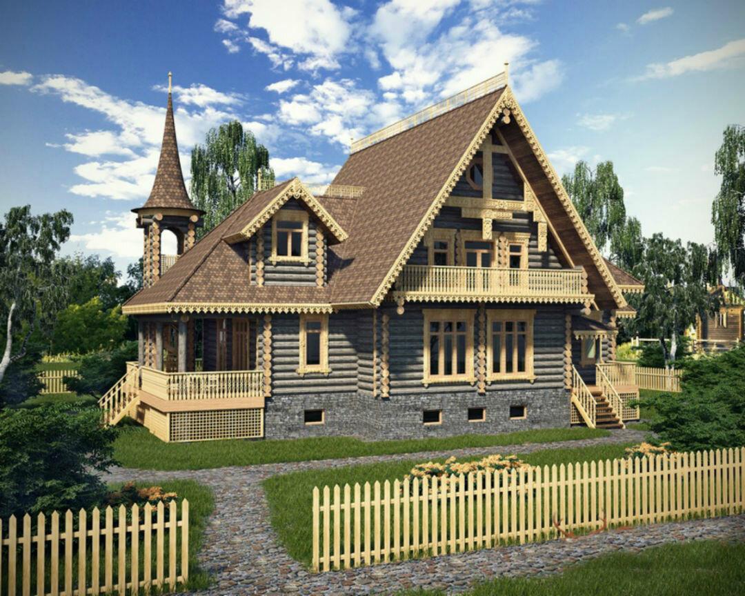 фото русских домов из дерева параметр это расстояние