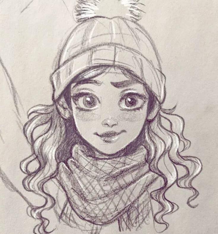 Сантехники, картинки мультяшных девушек карандашом
