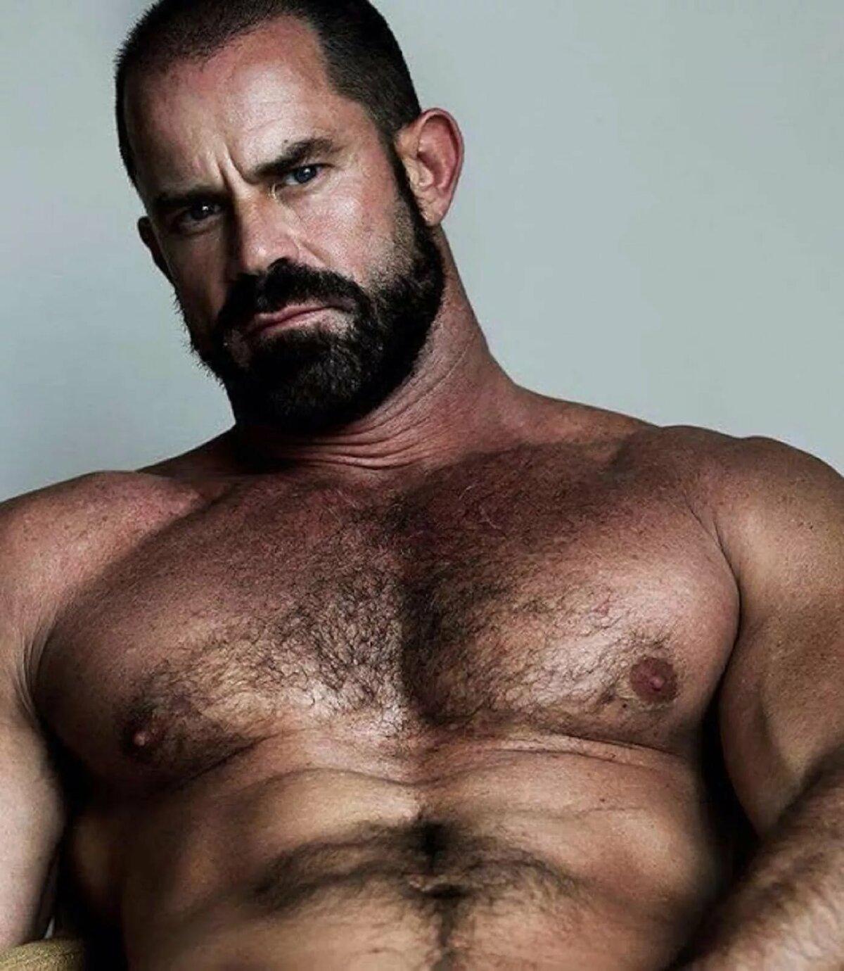 Hairy male pecs 11