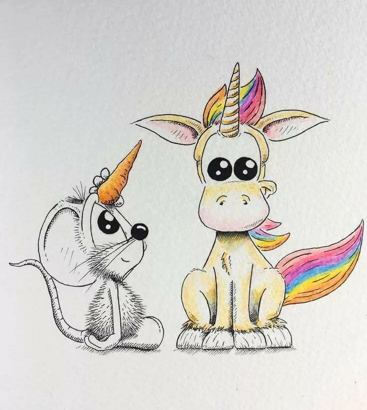 Прикольные картинки нарисованные карандашом цветными