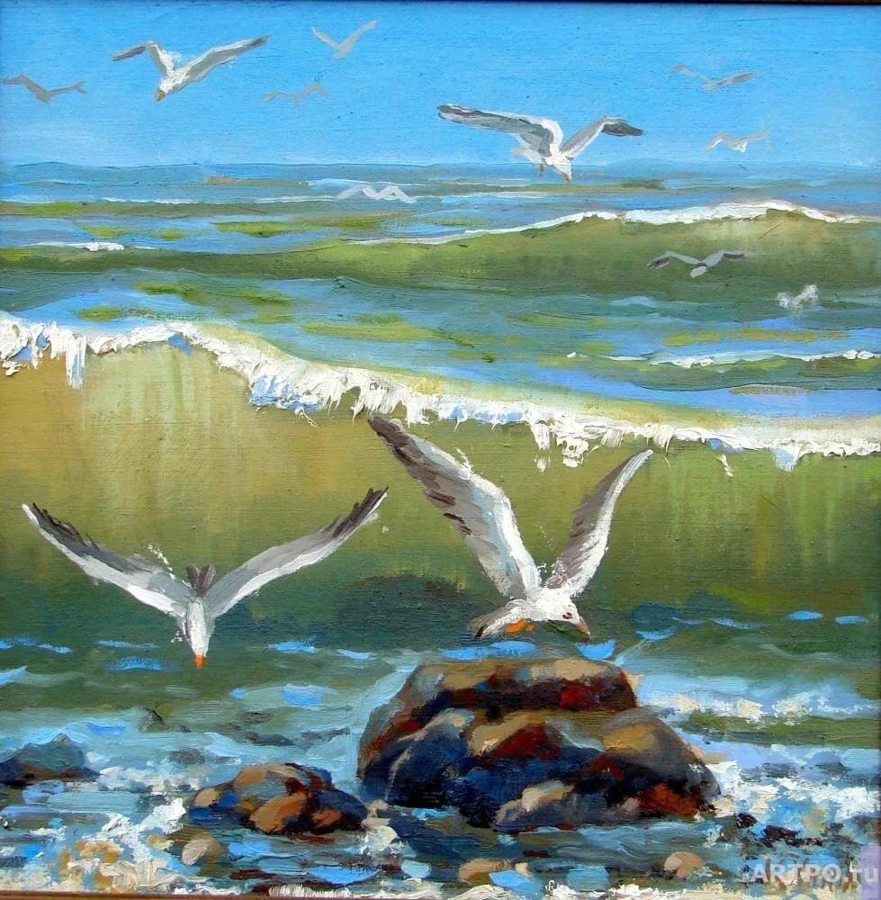 Картинки анимация море чайки чайки на просторе