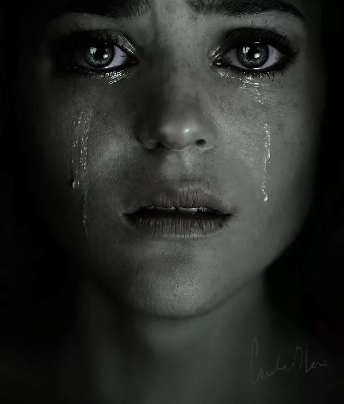 Картинки девушка в слезах
