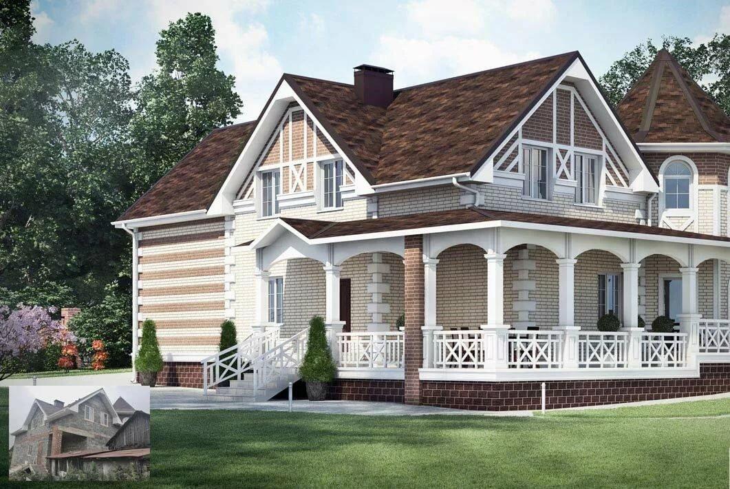 Проект фасада домов в картинках консультации специалистом