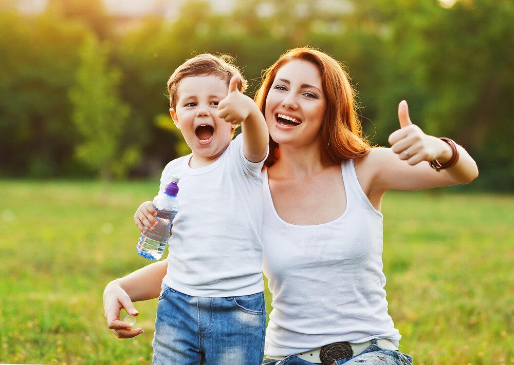 Картинка мама с сыном