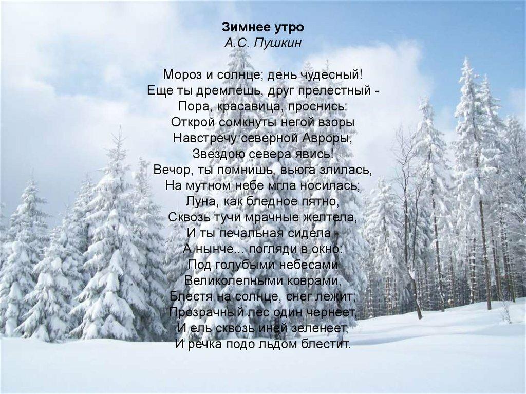 стихи пушкина о зиме картинки различным технологиям