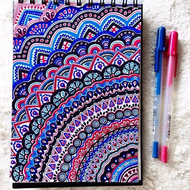 Прикольные рисунки цветными ручками