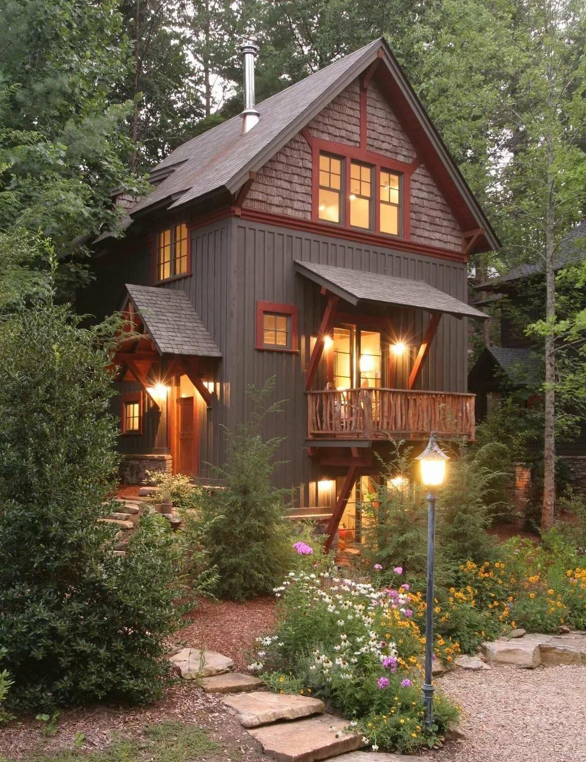 еще стал деревянный дом в саду фото наши