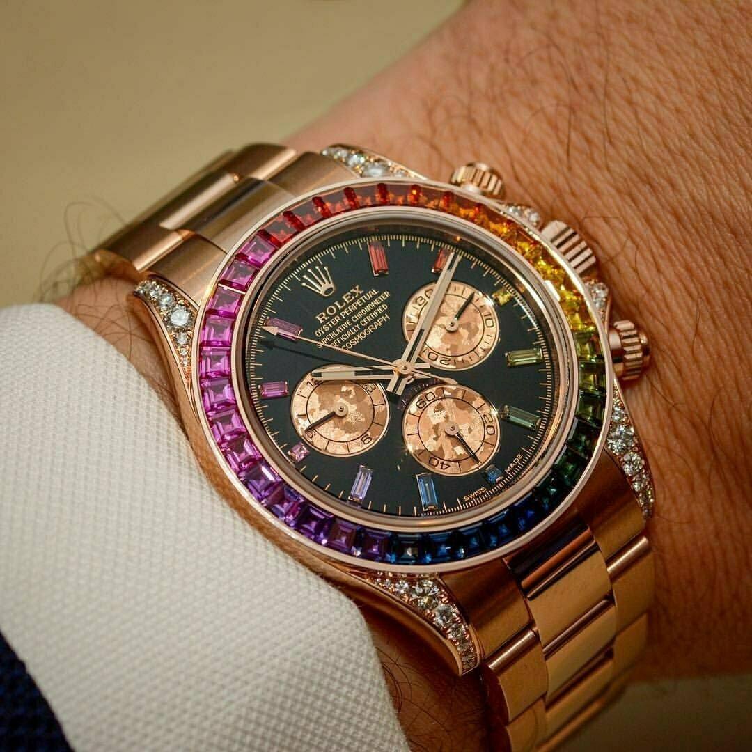 Часы Rolex White Gold Daytona Rainbow в Осташкове