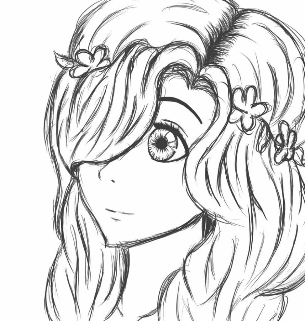 Прикольные картинки для рисования аниме, двоих влюбленных