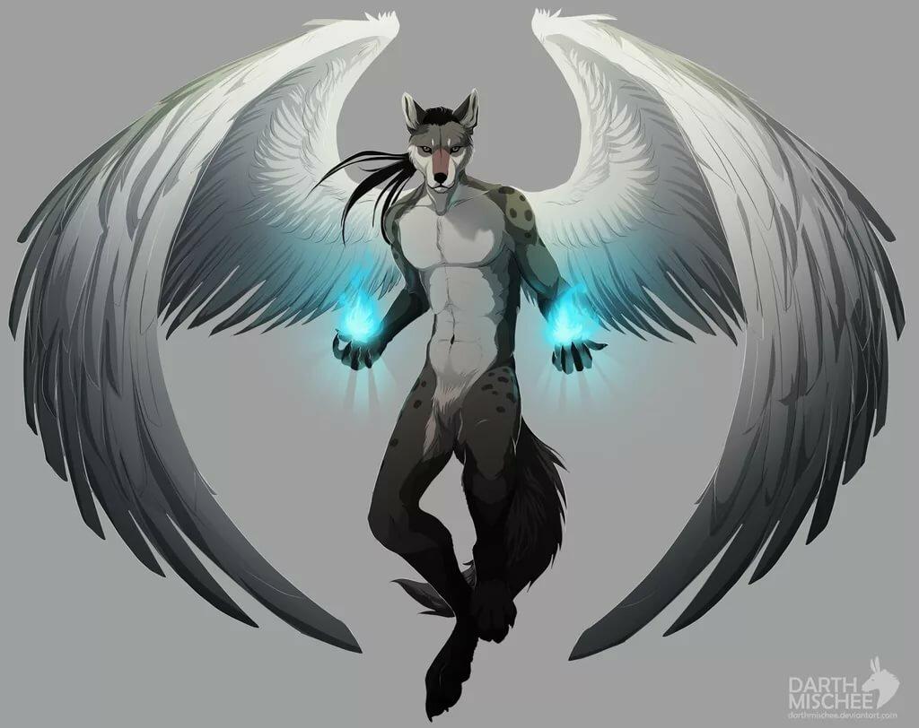 были фото человека волка с крыльями укладки девушке