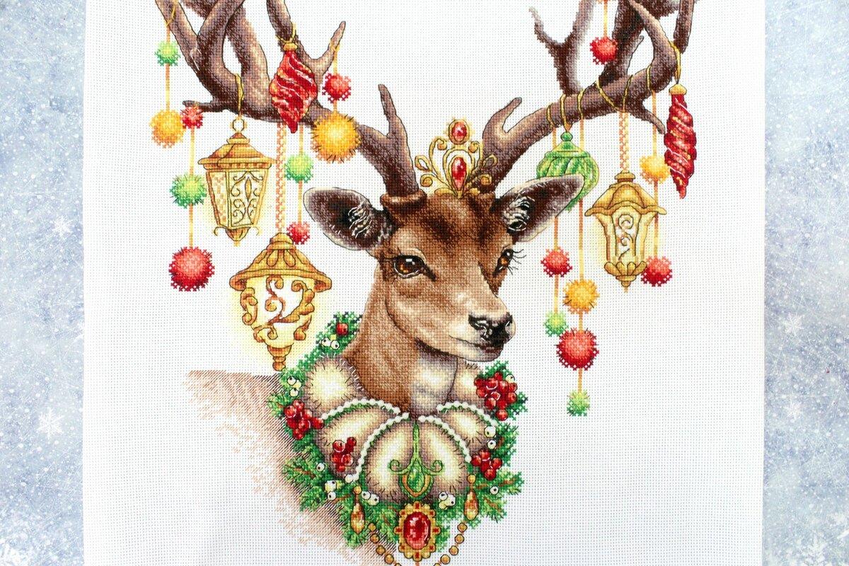 Днем рождения, открытки новый год с оленями