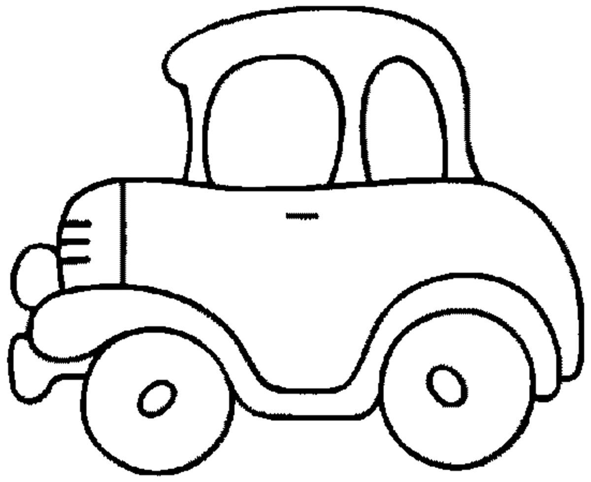 Картинки для рисования детям распечатать машины для малышей