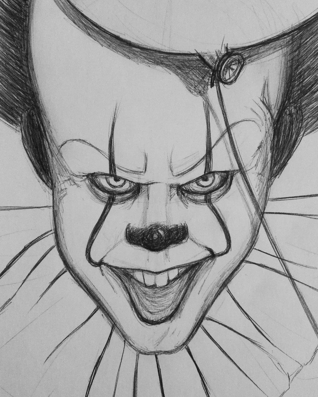 Страшные картинки карандашом легко