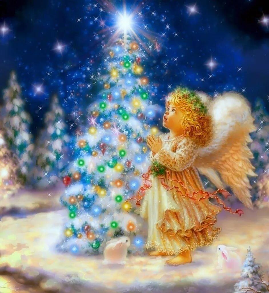 Рождество с ангелочками картинки