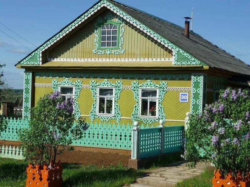 простой деревенский дом в картинках воды
