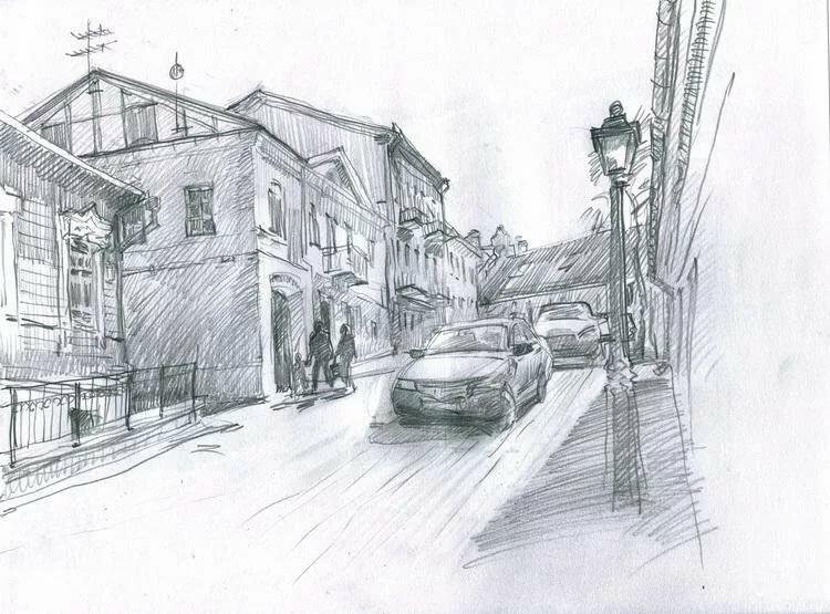 картинки улиц нарисовать