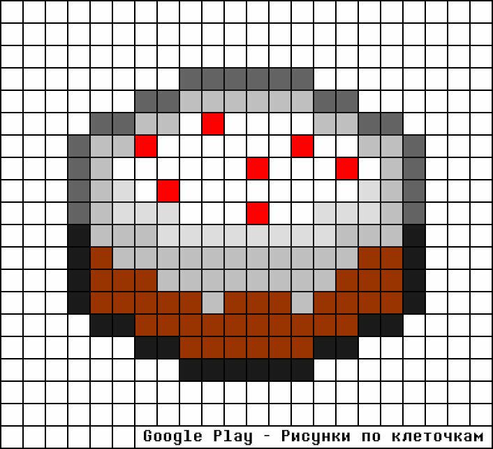 Картинки по клеточкам еда в майнкрафте