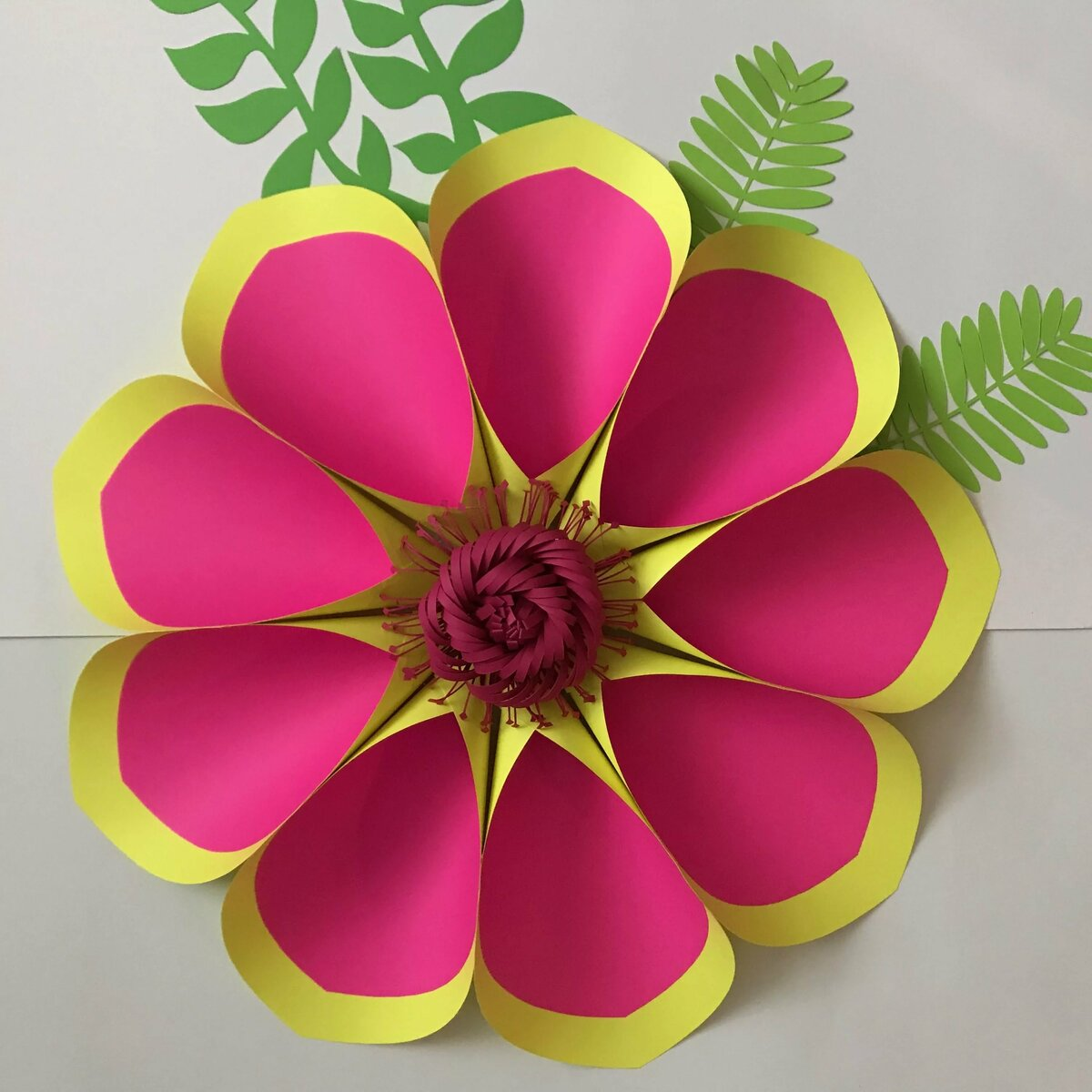 букет цветов из цветной бумаги своими руками фотографией, наверное, можно