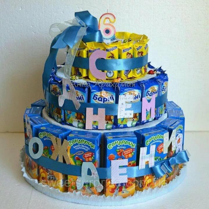 Оригинальное поздравление детей в детском саду из сладостей