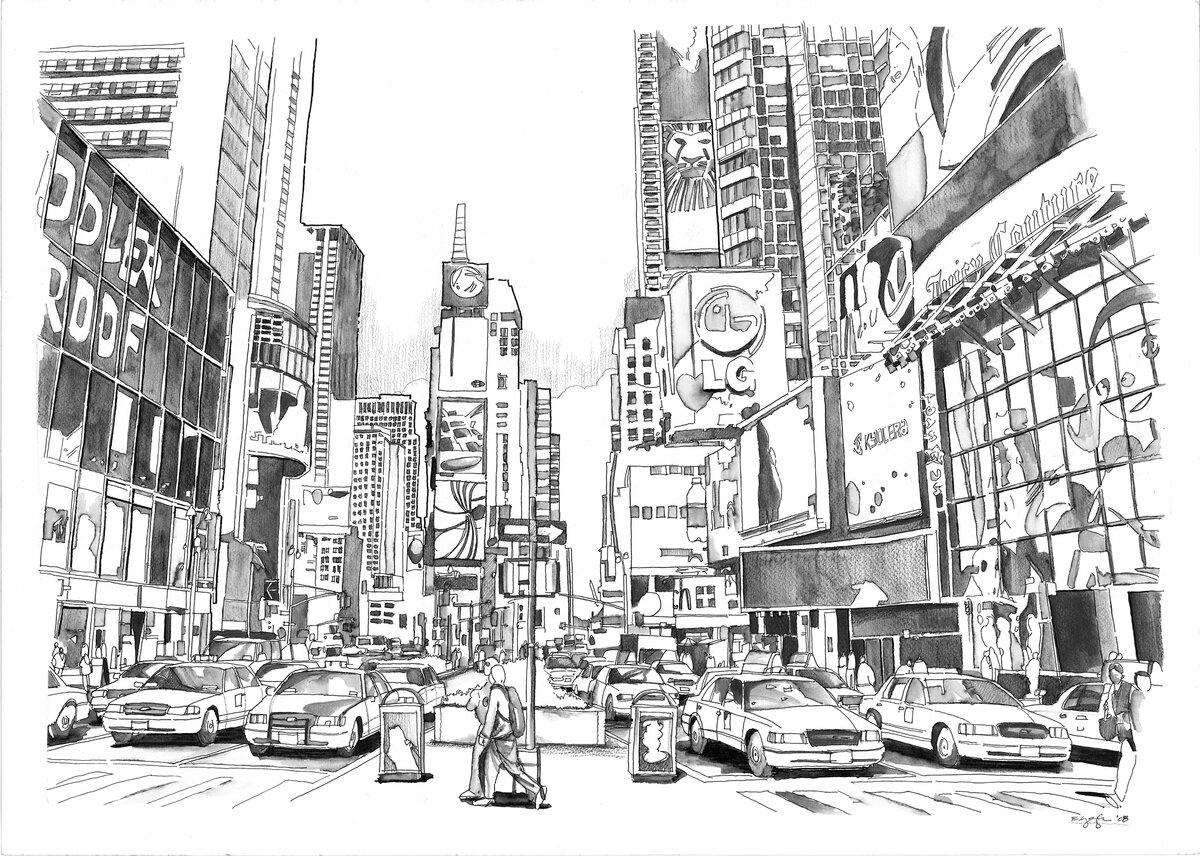 этого мегаполис картинки рисунки снова посыпается