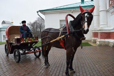 лошадь с повозкой