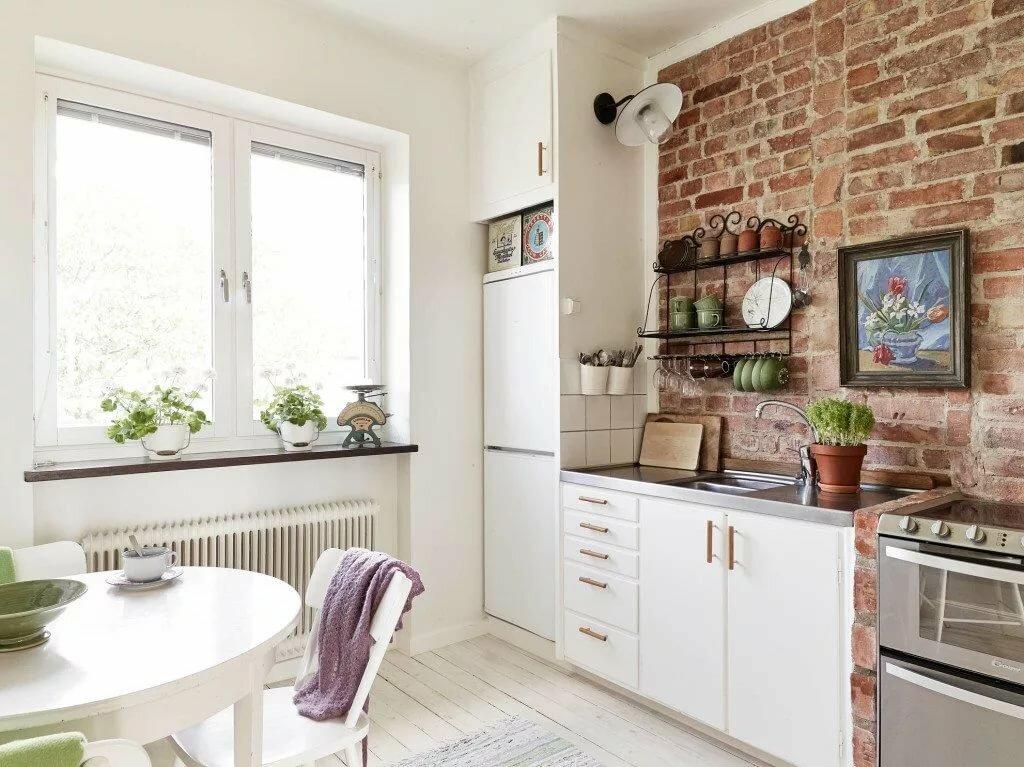 дизайн кухни с кирпичной стеной фото новый наряд
