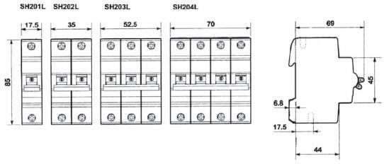 Габаритные Размеры ABB SH200L